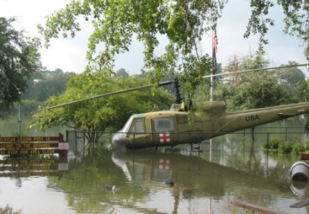 Lofty Pursuits' Neighbors - VFW.This helicopter actually is suppose to be over 6 feet above the lakeshore line.