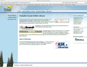 Wakulla County Public Library Website