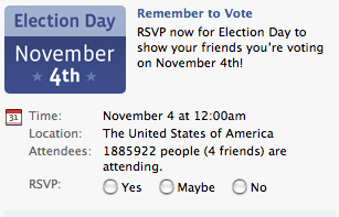 Facebook Election Day Event