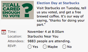 Election Day At Starbucks