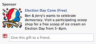 Facebook Election Day Cone